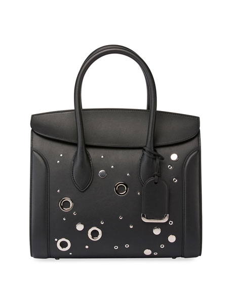 Alexander McQueen Heroine 35 Studded Leather Shopper Tote