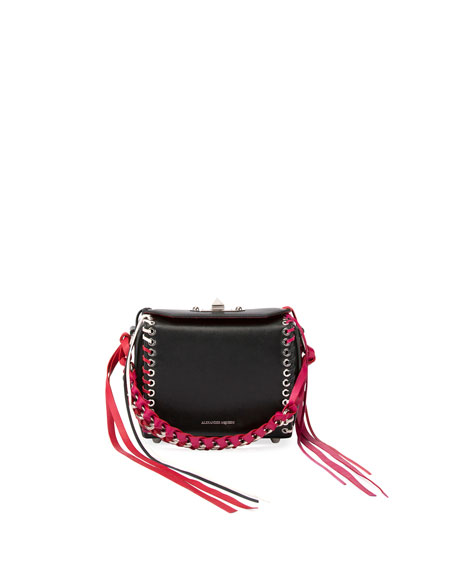 Alexander McQueen Box 16 Lace-Up Leather Bag