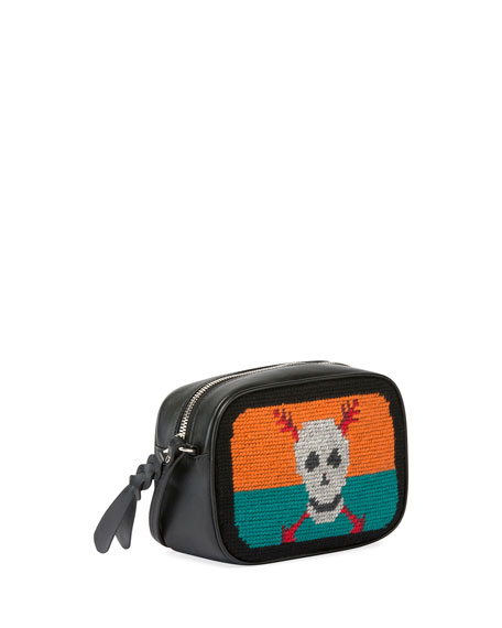 Skull Tapestry Small Zip Camera Bag