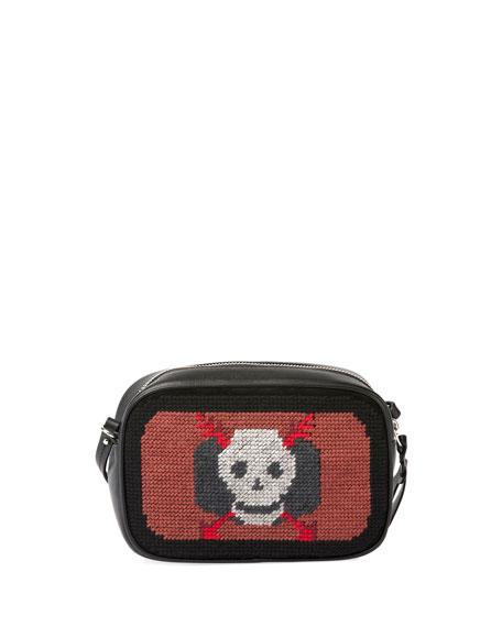 Skull Tapestry Small Zip Camera Bag