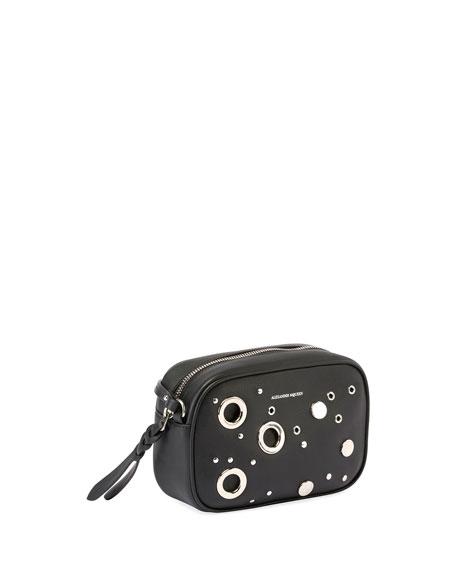 Small Leather Camera Bag, Black