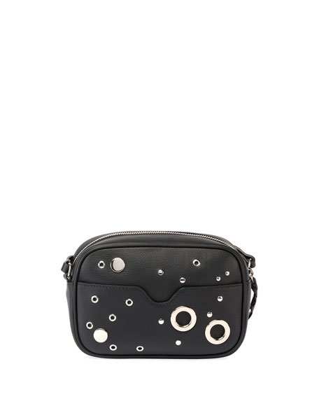 Small Leather Camera Bag, Black
