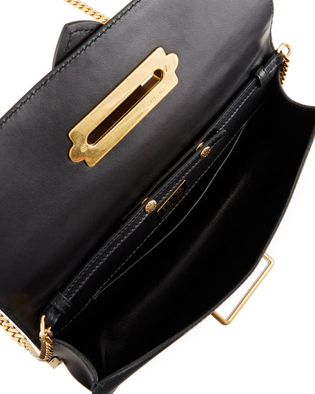 Cahier Calf Flap-Top City Clutch Bag