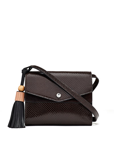 Eloise Embossed Field Bag, Brown