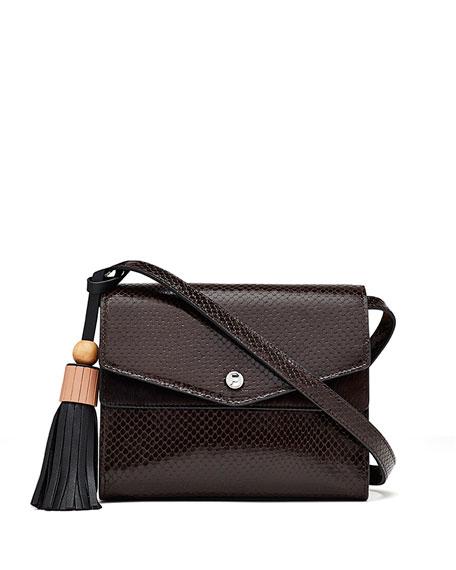 Eloise Embossed Field Bag, Brown