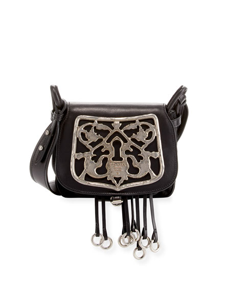Prada Corsaire Leather Shoulder Bag with Metal Key