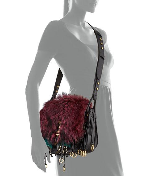 Corsaire Medium Mixed-Fur Messenger Bag