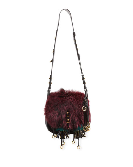Prada Corsaire Medium Mixed-Fur Messenger Bag
