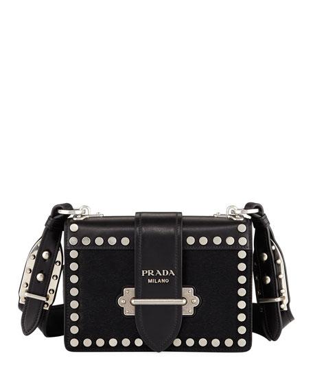 Prada Cahier Small Calf Hair Shoulder Bag