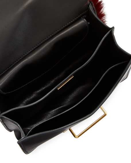 Cahier Small Colorblock Calf Hair Shoulder Bag