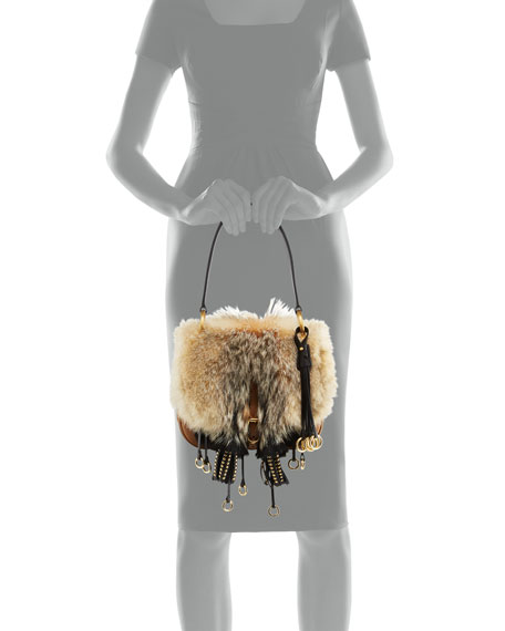 Crosaire Fox Fur Shoulder Bag