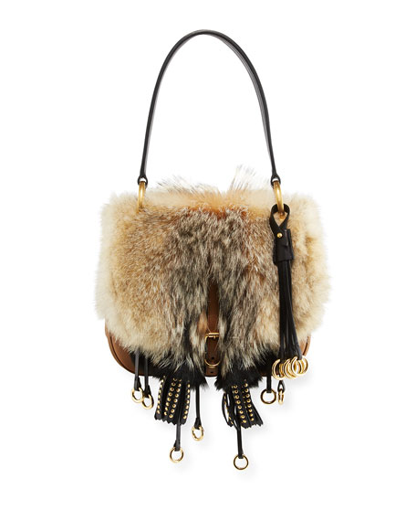 Prada Crosaire Fox Fur Shoulder Bag