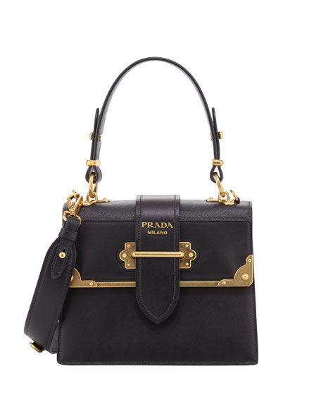 Prada Cahier Medium Calf Leather Crossbody Bag