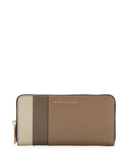 Colorblock Saffiano Continental Wallet