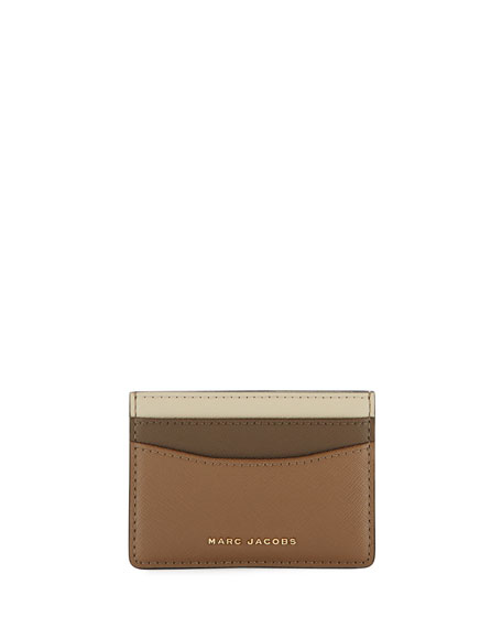 Marc Jacobs Colorblock Saffiano Card Case
