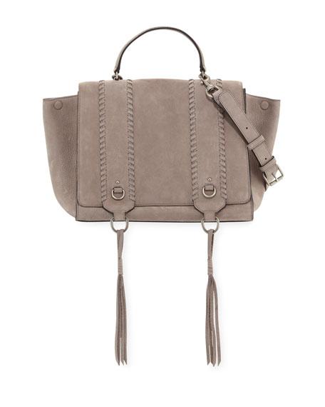 Paige Whipstitch Nubuck Satchel Bag