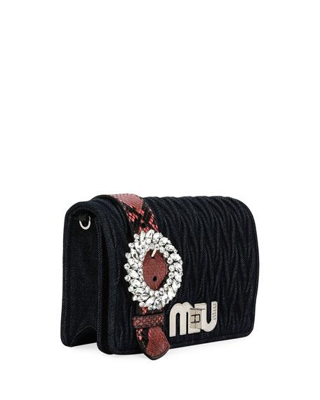 My Miu Matelasse Denim Clutch Bag