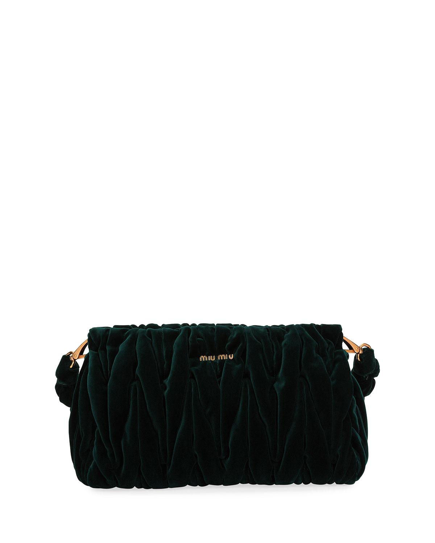 45ee5774d0c6 Miu Miu Velvet Matelasse Shoulder Bag