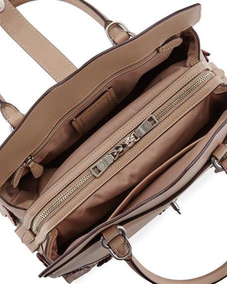 Mercer 30 Tea Rose Tooling Handbag