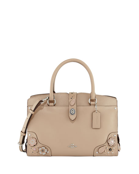 Coach Mercer 30 Tea Rose Tooling Handbag