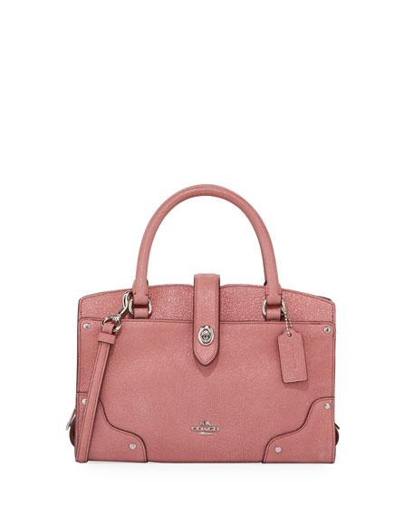 Coach Mercer 24 Glitter Rose Satchel Bag