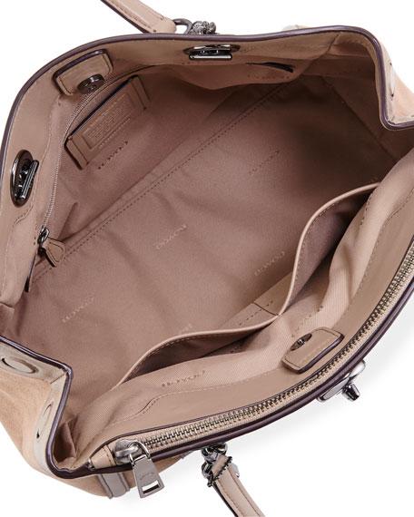 Patchwork Snake Carryall Bag