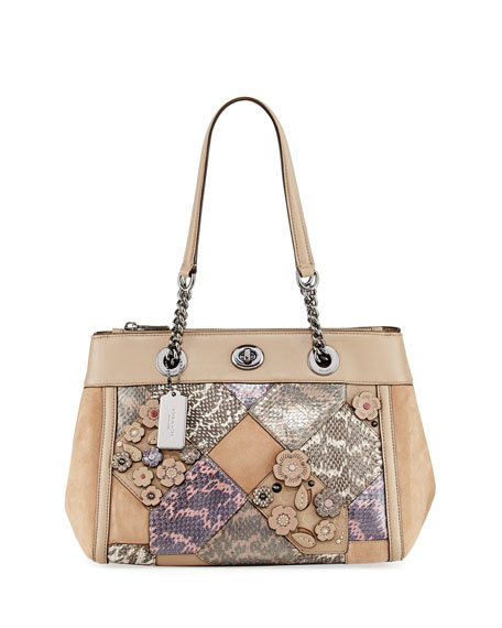 Coach Patchwork Snake Carryall Bag