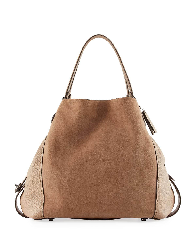 Coach Edie 42 Mixed Leather Shoulder Bag  ec553910e5fad