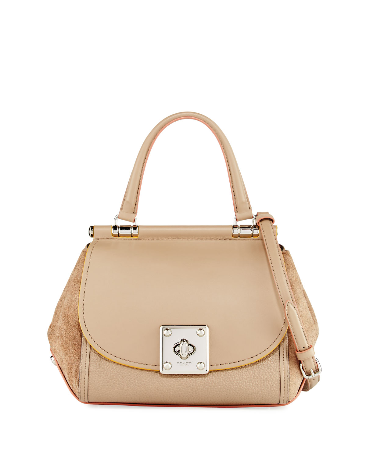 Coach Drifter Mixed Leather Top-Handle Bag  ad1db51a574be