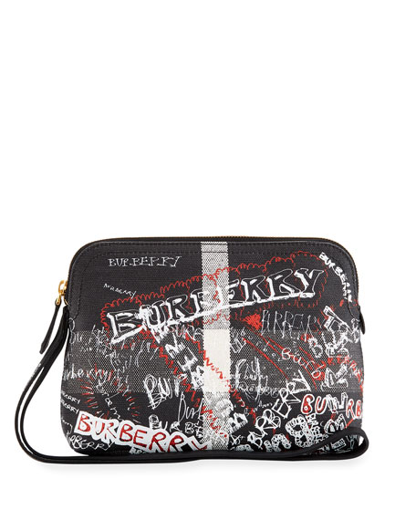 Burberry Sketchbook Series Logo Pouch Bag, Black