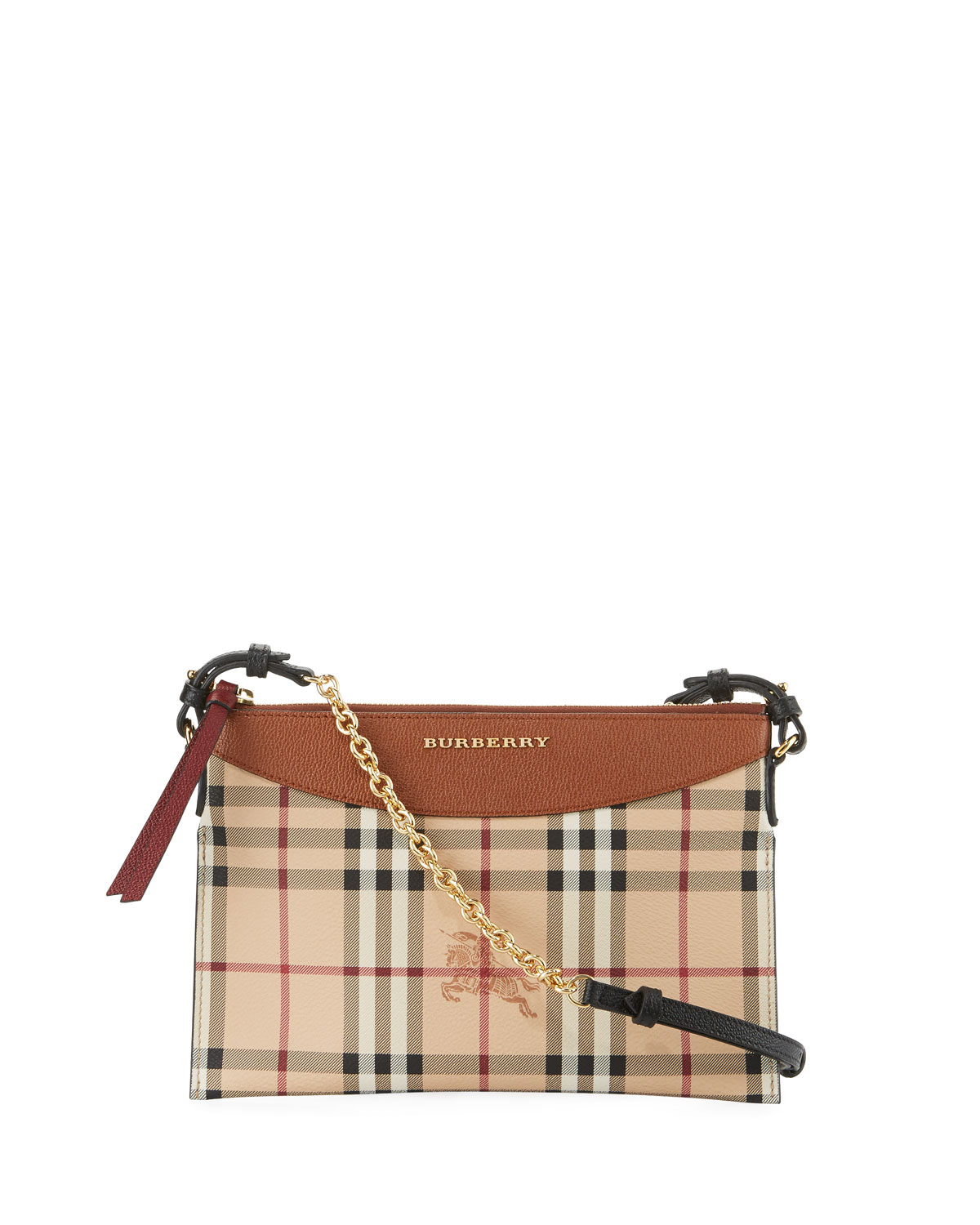 1652da0be015 Burberry Peyton Haymarket Check Leather Clutch Bag