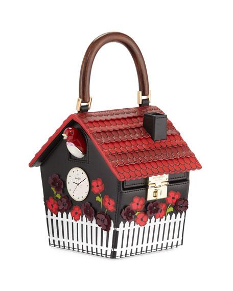 kate spade new york ooh la la cuckoo clock handbag multi