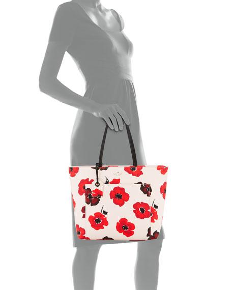 riley hyde lane poppy-print tote bag