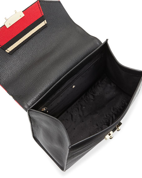 stewart street samira striped fabric satchel bag