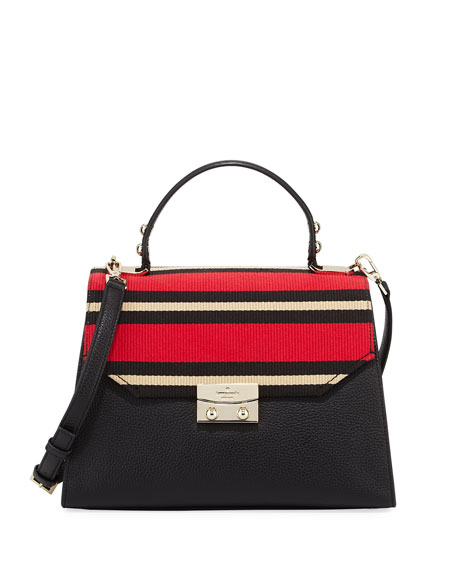 stewart street samira striped fabric satchel bag