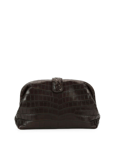 The Lauren 1980 Soft Croc Clutch Bag