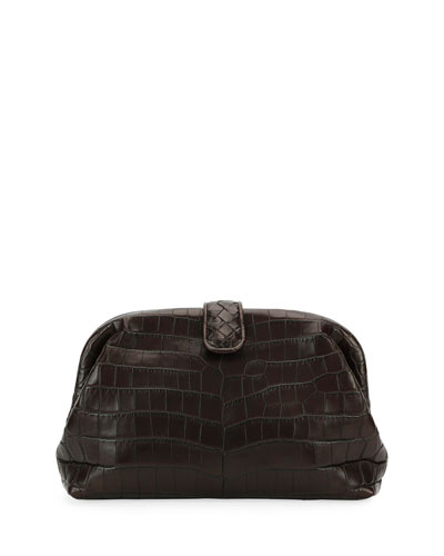 The Lauren 1980 Soft Croc Clutch Bag