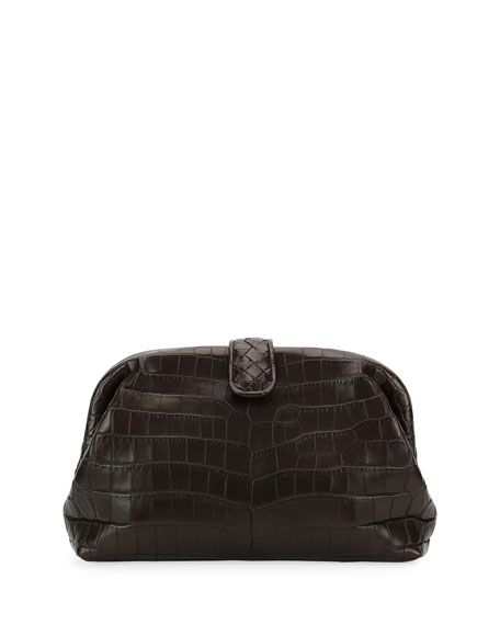 Bottega Veneta The Lauren 1980 Soft Croc Clutch