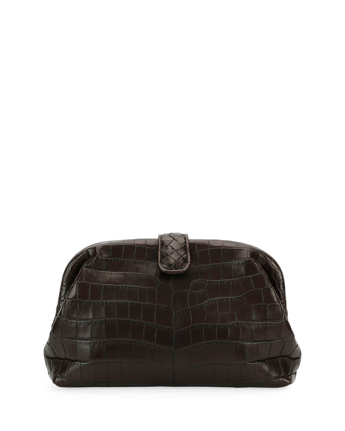 2daaf4aad3 Bottega Veneta The Lauren 1980 Soft Croc Clutch Bag