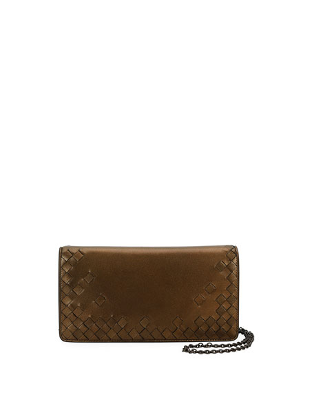 Bottega Veneta Intrecciato Flap Antique Napa Wallet-on-Chain