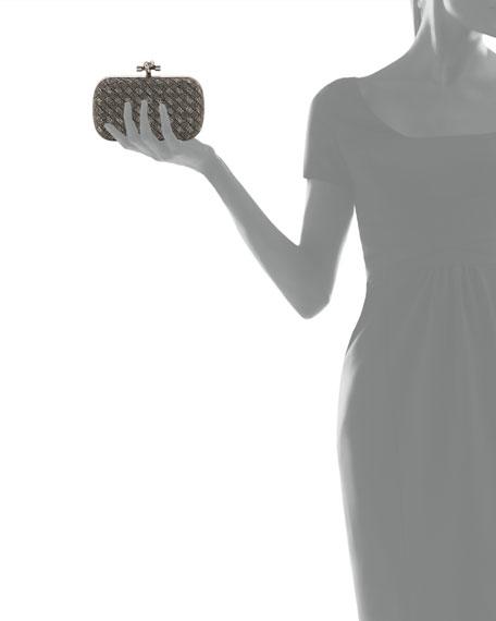 Crystal Knot Framed Clutch Bag, Bronze