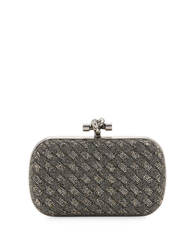 Crystal Knot Framed Clutch Bag, Bronze