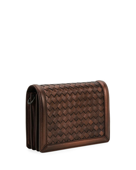Montebello Mini Intrecciato Wallet on Chain