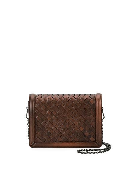 Bottega Veneta Montebello Mini Intrecciato Wallet on Chain