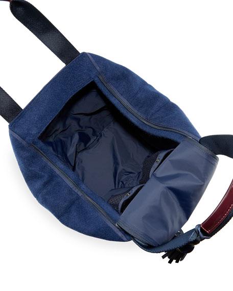 Patchwork Triangle Satchel Bag