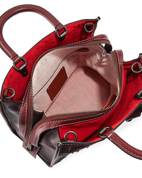 Rogue Prairie Rivets Tote Bag, Dark Red