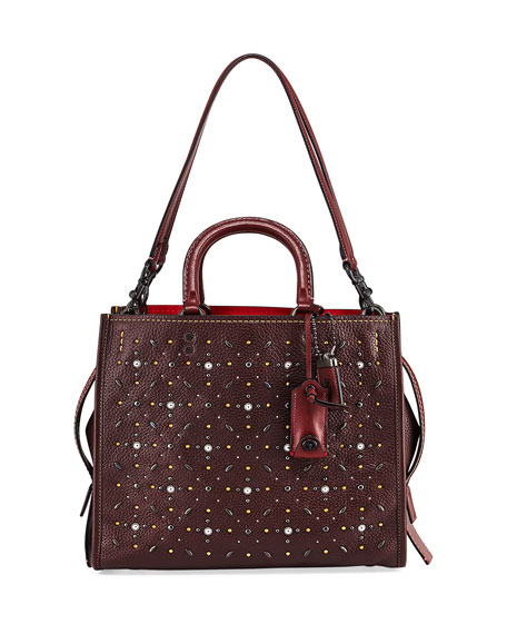 Rogue Prairie Rivets Tote Bag, Dark Red
