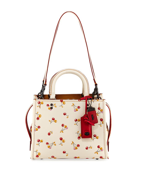 Coach 1941 Rogue Cherries-Print Handbag
