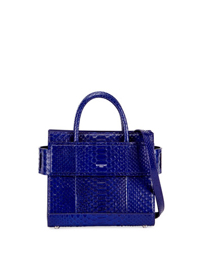 Horizon Mini Python Satchel Bag