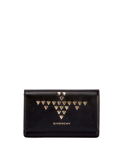 Pandora Studded Wallet-on-a-Chain, Black